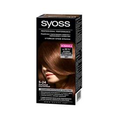 Краска для волос Syoss Syoss Color 5-24 (Цвет 5-24 Морозный каштан  variant_hex_name 4E2919)
