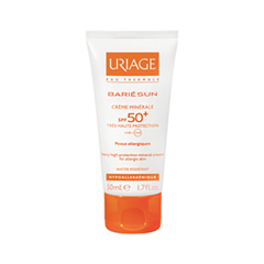 Крем Uriage Bariesun SPF 50+ Mineral Cream (Объем 50 мл) the yeon canola honey silky hand cream крем для рук с экстрактом меда канола 50 мл