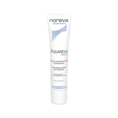 Крем Noreva Aquareva Crème Hydratante 24h Texture Riche (Объем 40 мл) интенсивный ночной увлажняющий уход aquareva 50 мл