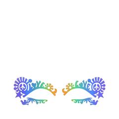 Аксессуары Face Lace Наклейки на глаза Dovechild Festival Rainbow