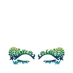 Аксессуары Face Lace Наклейки на глаза Dovechild Festival Sea