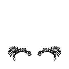 Аксессуары Face Lace Наклейки на глаза Masqueraze Eye Lace Minis Black