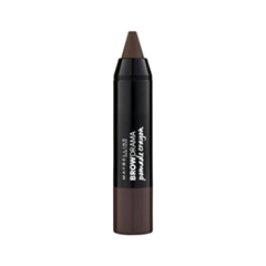 Карандаш для бровей Maybelline New York Brow Drama Pomade Crayon 04 (Цвет Deep Brown variant_hex_name 483C39) maybelline brow drama светло коричневая