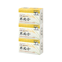 Мыло Cow Brand (Gyunyu Sekken) Komenuka Natural Rice Bran Soap (Объем 3*100 г)