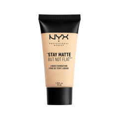 Тональная основа NYX Professional Makeup Stay Matte But Not Flat Liquid Foundation 01 (Цвет 01 Ivory variant_hex_name EED7B8) подводка milani stay put matte 17hr wear liquid eyeliner 04 цвет 04 midnight matte variant hex name 1c2c67