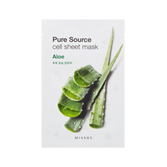 Тканевая маска Missha Pure Source Cell Sheet Mask Aloe (Объем 21 г) missha pure source sheet mask pomegranate объем 21 г