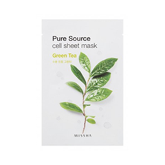 Тканевая маска Missha Pure Source Cell Sheet Mask Green Tea (Объем 21 г)