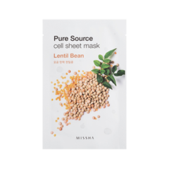 Тканевая маска Missha Pure Source Cell Sheet Mask Lentil Bean (Объем 21 г)