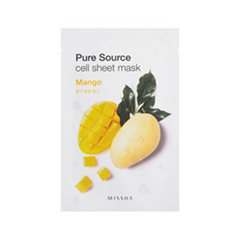 Тканевая маска Missha Pure Source Cell Sheet Mask Mango (Объем 21 г)