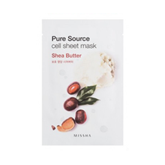 Тканевая маска Missha Pure Source Cell Sheet Mask Shea Butter (Объем 21 г)