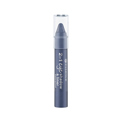 Тени для век essence Тени и Контур для глаз 2 in 1 Eyeshadow & Liner 05 (Цвет 05 I'm Blue variant_hex_name 3F5D74) тени для век essence тени хайлайтер hi lighting eyeshadow mousse 01 цвет 01 hi ivory variant hex name fdece4