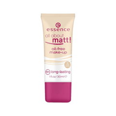 Тональная основа essence All About Matt! Oil-Free Make-Up 15 (Цвет 15 Matt Cameo variant_hex_name E9B789)