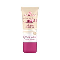 Тональная основа essence All About Matt! Oil-Free Make-Up 15 (Цвет 15 Matt Cameo variant_hex_name E9B789) essence matt touch 10 цвет 10 peach me up