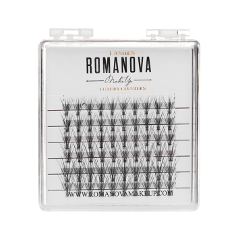 Накладные ресницы Romanova MakeUp Пучки F-Long Mini