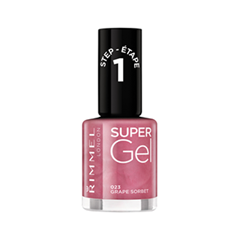 Лак для ногтей Rimmel Super Gel Nail Polish 23 (Цвет 23 Grape Sorbet variant_hex_name BB6583) new 24w professional uv led nail gel lamp of resurrection nail polish tools and portable five soaked nail gel art decorating set