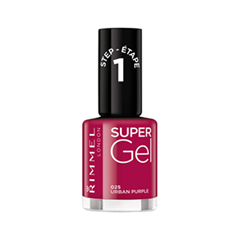 Лак для ногтей Rimmel Super Gel Nail Polish 25 (Цвет 25 Urban Purple variant_hex_name 871C40) new 24w professional uv led nail gel lamp of resurrection nail polish tools and portable five soaked nail gel art decorating set