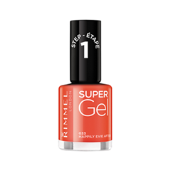 Гель-лак для ногтей Rimmel Super Gel Nail Polish 33 (Цвет 33 Happily Evie After  variant_hex_name F85E61)