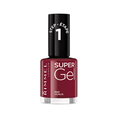 Лак для ногтей Rimmel Super Gel Nail Polish 43 (Цвет 43 Venus variant_hex_name 75182C) new 24w professional uv led nail gel lamp of resurrection nail polish tools and portable five soaked nail gel art decorating set