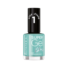 Лак для ногтей Rimmel Super Gel Nail Polish 51 (Цвет 51 Shallow Bay variant_hex_name 39A1A1) лак для ногтей nouba nail polish mini 486