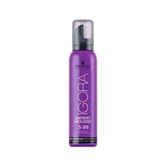 Краска для волос Schwarzkopf Мусс тонирующий Igora Expert Mousse 5-99 (Цвет 5-99 - Light Brown Violet Extra variant_hex_name 330C2C)