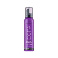 Краска для волос Schwarzkopf Мусс тонирующий Igora Expert Mousse 9,5-55 (Цвет 9,5-55 Honey variant_hex_name A4825C)