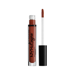 Жидкая помада NYX Professional Makeup Lip Lingerie 12 (Цвет 12 Exotic variant_hex_name 8A382D) nyx professional makeup жидкая губная помада lip lingerie exotic 12