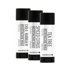 ������ � ��� Beardbrand ����� ����� ��� ���� � ������  Silver Label Mustache Wax 3 Pack (����� 3*4.25 �)