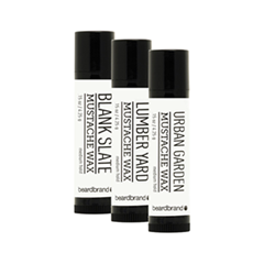 ������ � ��� Beardbrand ����� ����� ��� ���� � ������ White Label Mustache Wax 3 Pack (����� 3*4.25 �)