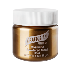 Пудра Graftobian Металлическая пудра Cosmetic Powder Metal Gold (Цвет Gold variant_hex_name 88622E)