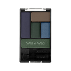 Тени для век Wet n Wild Color Icon Eye Shadow Palette Е34670 (Цвет Е34670 Dont Be A Poser (Dark Blue) variant_hex_name 4B637B)