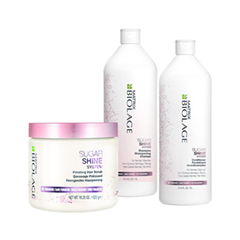 Уход Matrix Набор Biolage Sugar Shine Set (Объем 500мл+1000мл+1000мл)  недорого