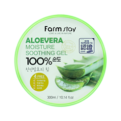 Гель FarmStay Aloe Vera Moisture Soothing Gel (Объем 300 мл) крем the saem horse oil soothing gel cream объем 300 мл