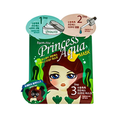 Маска FarmStay Princess Aqua 3-Step Mask (Объем 2 мл + 2 мл + 25 мл) тканевая маска secret a skin guardian aqua 3 step total facial mask