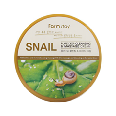 ���� FarmStay Pure Deep Cleansing & Massage Cream Snail (����� 300 �)