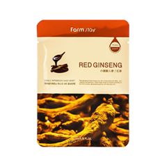 Тканевая маска FarmStay Visible Difference Mask Sheet Red Ginseng (Объем 23 мл)