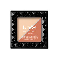 Лицо NYX Professional Makeup Палетка для контуринга Cheek Contour Duo Palette 03 (Цвет 03 Perfect Match variant_hex_name F1D0B1) тени nyx professional makeup палетка теней perfect filter shadow palette golden hour 01