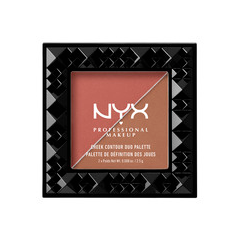 Лицо NYX Professional Makeup Палетка для контуринга Cheek Contour Duo Palette 04 (Цвет 04 Wine & Dine variant_hex_name B1645A) makeup base color corrector contour cream concealer palette