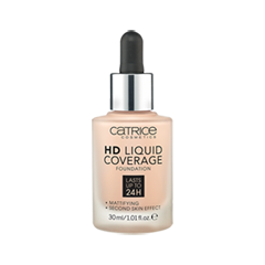 Тональная основа Catrice HD Liquid Coverage Foundation 010 (Цвет 010 Light Beige variant_hex_name EBC3A7) catrice консилер жидкий liquid camouflage 010 porcellain 5мл