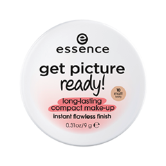 Тональная основа essence Get Picture Ready! Long-Lasting Compact Make-Up 10 (Цвет 10 Matt Ivory variant_hex_name F6E1D4) essence matt touch 10 цвет 10 peach me up