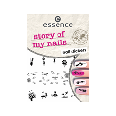 Дизайн ногтей essence Наклейки для маникюра Nail Art Sticker 06 (Цвет 06 Story of My Nails  variant_hex_name 000000) дизайн ногтей essence накладные ногти nails in style 02 цвет 02 abso nude ly fabulous variant hex name dcdbe0