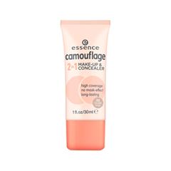 Тональная основа essence Camouflage 2in1 Make-up  Concealer 20 (Цвет 20 Nude Beige variant_hex_name E0CABE)