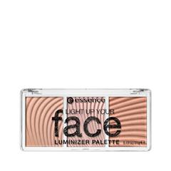 Хайлайтер essence Light Up Your Face Luminizer Palette (Цвет 10 Ready, Set, Glow! variant_hex_name F3CAC2)