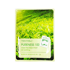 Тканевая маска Tony Moly Pureness 100 Green Tea Mask Sheet (Объем 21 мл) tony moly sheet gel mask pureness 100 collagen маска тканевая с экстрактом коллагена 21 мл