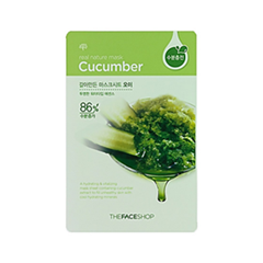Тканевая маска The Face Shop Real Nature Mask Sheet Cucumber (Объем 23 г) тканевая маска bioaqua animal tiger supple mask объем 30 г