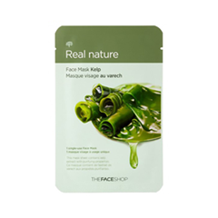 Тканевая маска The Face Shop Real Nature Mask Sheet Kelp (Объем 23 г) тканевая маска bioaqua animal tiger supple mask объем 30 г