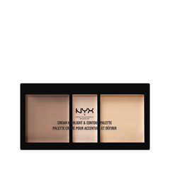 Для лица NYX Professional Makeup Cream Highlight & Contour Palette 01 (Цвет 01 Light variant_hex_name F0D3C5) nyx professional makeup консилер для лица concealer jar tan 07