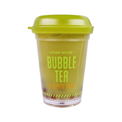 Ночная маска Etude House Bubble Tea Sleeping Pack Green Tea (Объем 100 г)