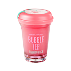 Ночная маска Etude House Bubble Tea Sleeping Pack Strawberry (Объем 100 г)