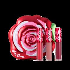 Жидкая помада Lime Crime Подарочный набор миниатюр Velvetines Red (Цвет Red variant_hex_name ee354c)