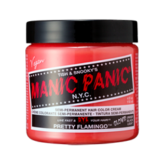 Полуперманентное окрашивание Manic Panic Pretty Flamingo Classic Creme (Цвет Pretty Flamingo variant_hex_name F67169)